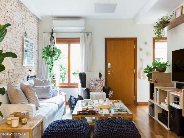 L004 - Casa aconchegante - 01 decoracao casa de vila sala aconchegante madeira clara